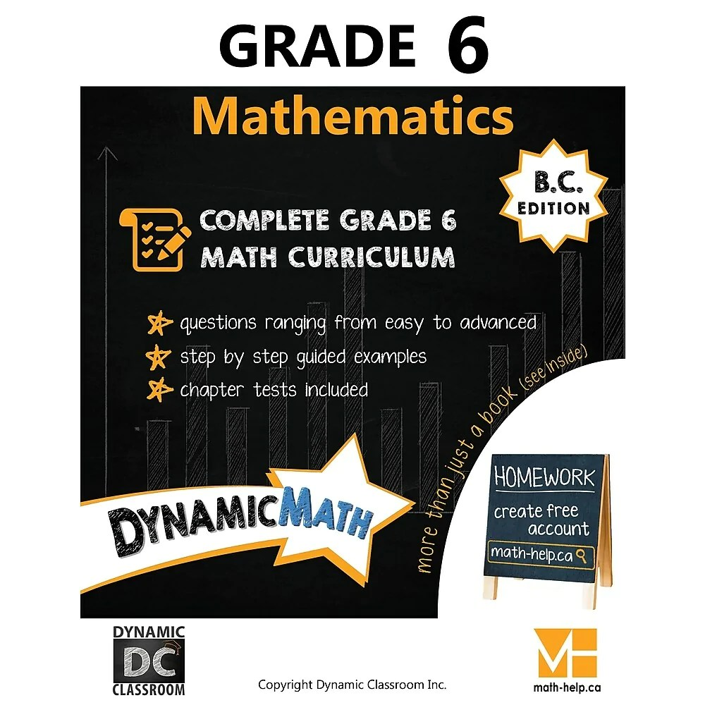 hight resolution of Dynamic Math Workbook BC - Grade 6   staples.ca
