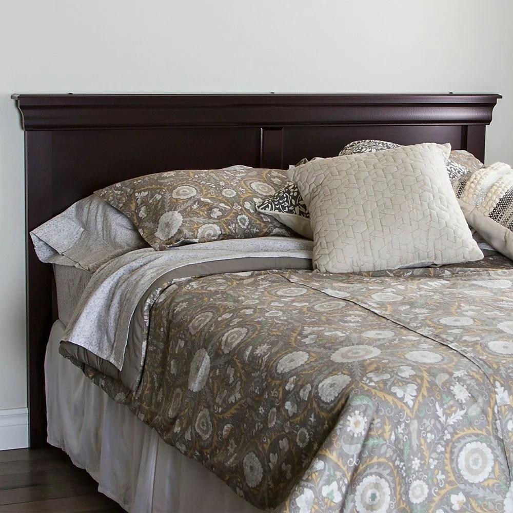 tete de lit double queen acajou fonce collection vintage de meubles south shore 65 l x 3 d x 43 h