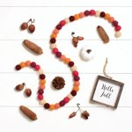 Fall Harvest Felt Ball Garland Fall Pom Pom Garland Thanksgiving Dec Therainbowbarn