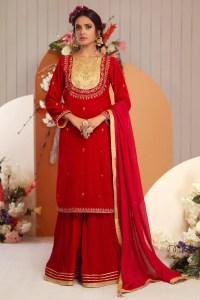 Zaaviay Darakshan - Shirt Only Bagh-E-Makhmal