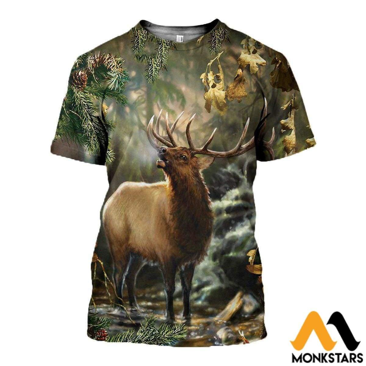 3d Over Printed Deer Art Clothes - Monkstars