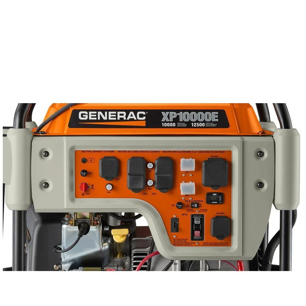 hight resolution of  generac 5932 xp10000e gasoline powered portable generator