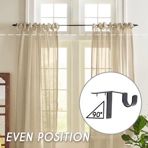 no drill curtain rod brackets holders