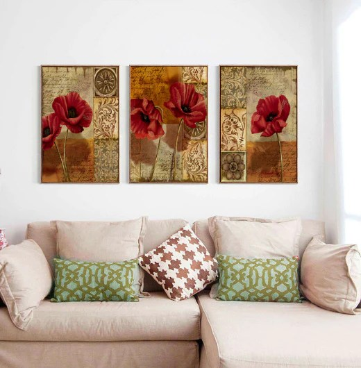 images of living room wall decor decorating ideas for my small canvas art flowers money melt
