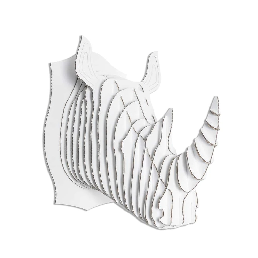robbie cardboard rhino head [ 1000 x 1000 Pixel ]