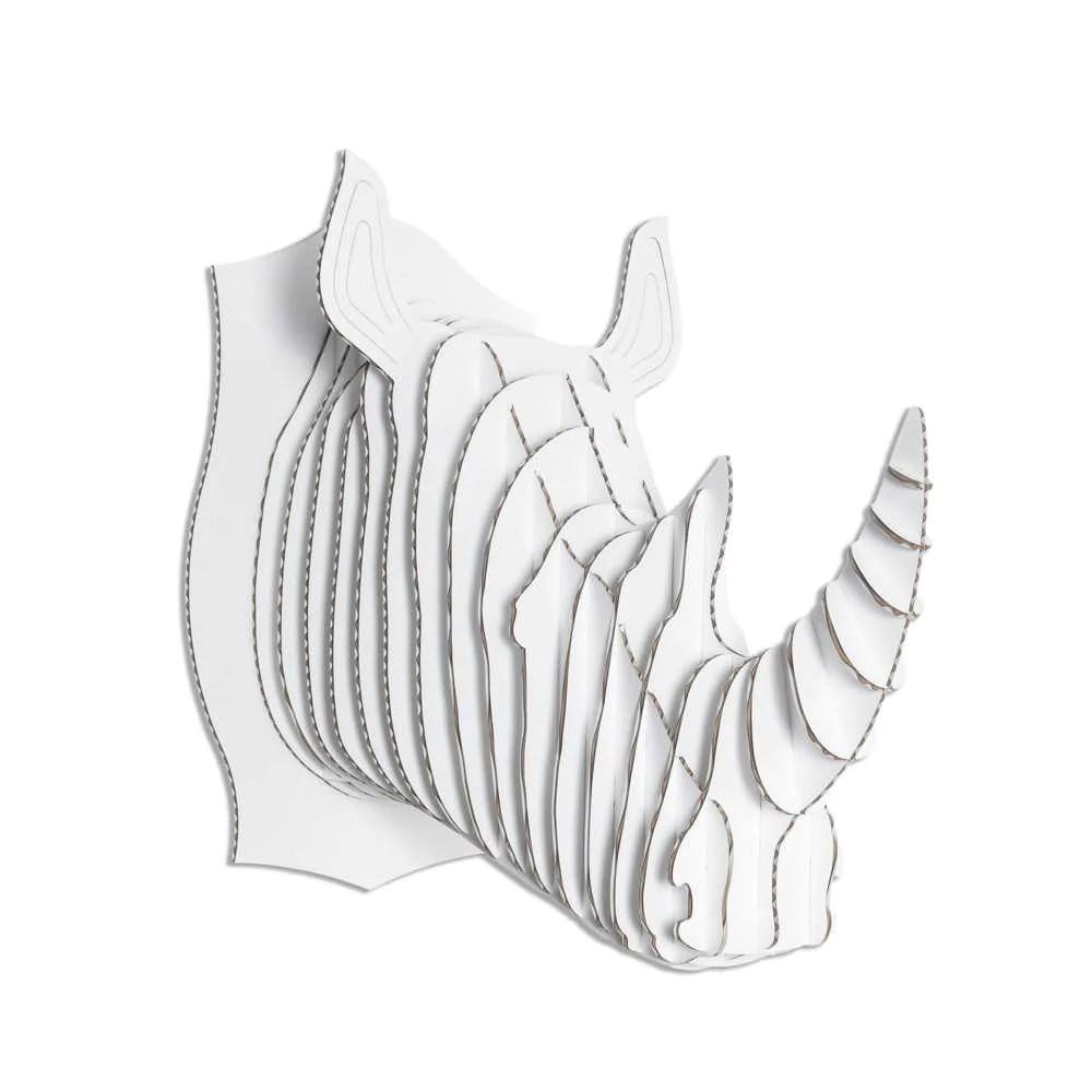 medium resolution of robbie cardboard rhino head