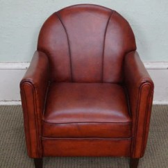 Art Deco Style Club Chairs Broyhill Executive Chair Quality French Child S Leather Bucks