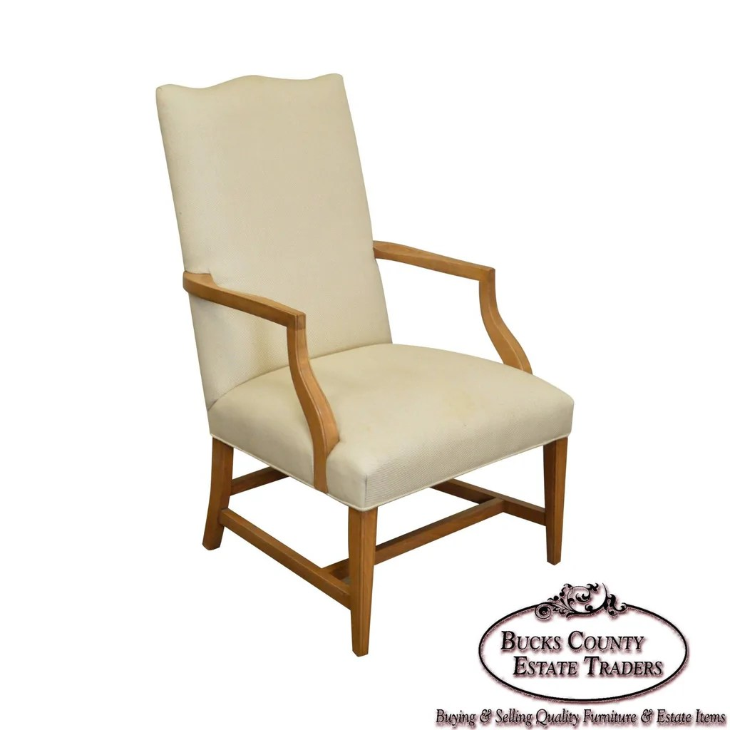 Ethan Allen Club Chairs Ethan Allen Traditional High Back Arm Chair Bucks County Estate