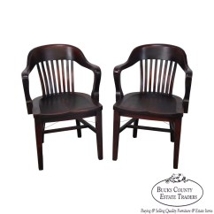 Sikes Chair Company Swivel Bar Chairs With Backs Antique Pair Of Bank England Arm By The
