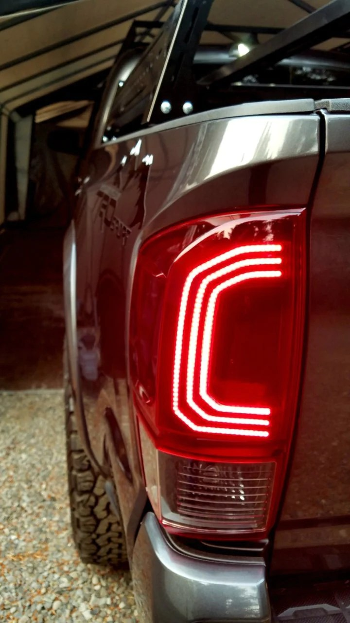 LED Tail Lights Red 3rd Gen Tacoma  Limited Runs  MESO