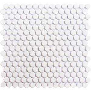 getaround white penny round tile glossy 3 4 12x12 sheet