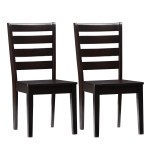 Memphis Solid Wood Dining Chairs With Horizontal Slats Set Of 2 Cl Corliving Furniture Us