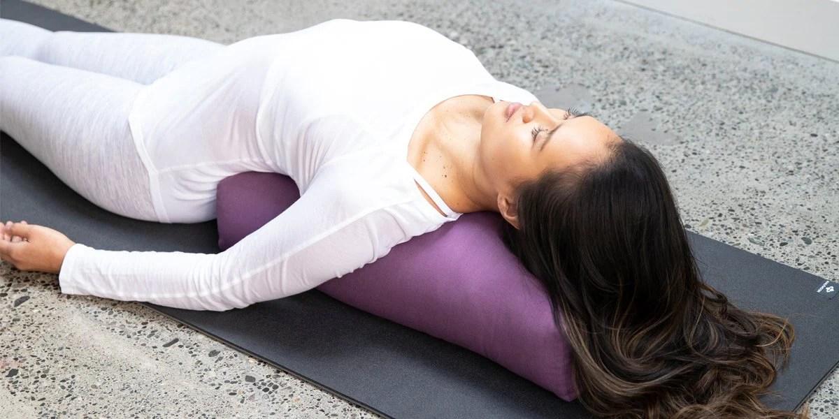 rectangular yoga bolster