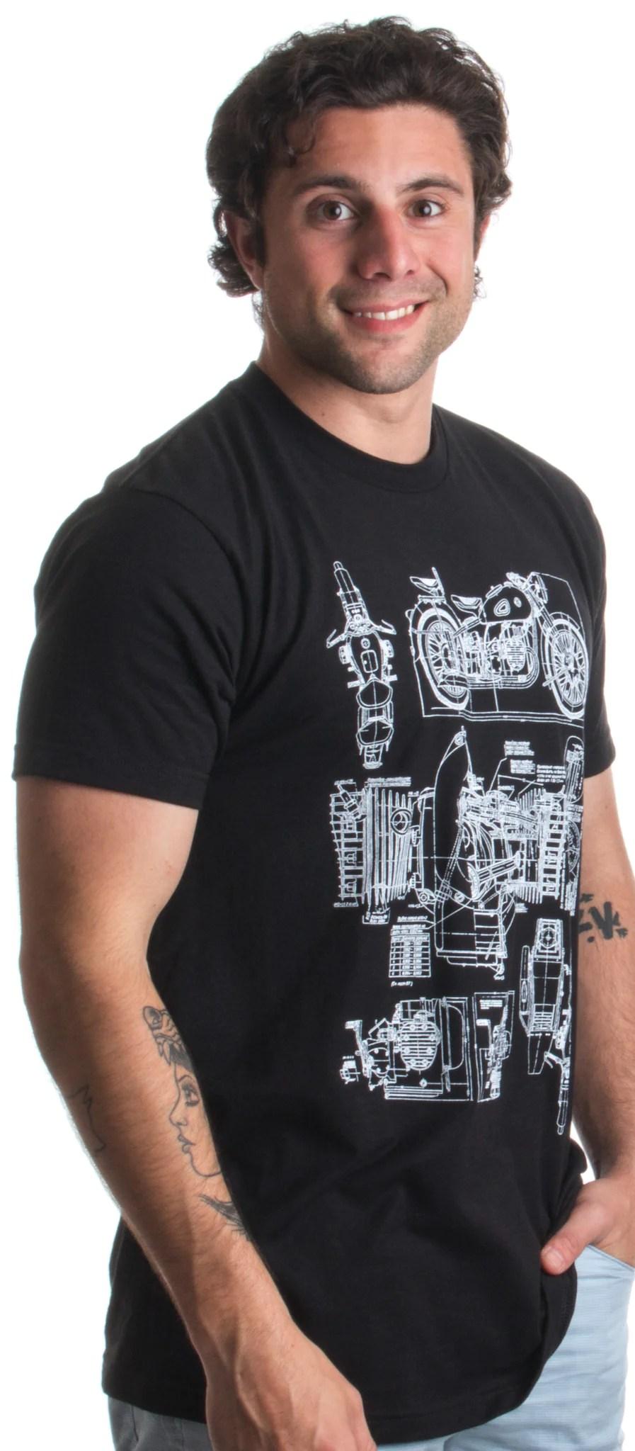 medium resolution of  m 72 motorcycle engine blow out diagram mechanic schematic art unisex t shirt