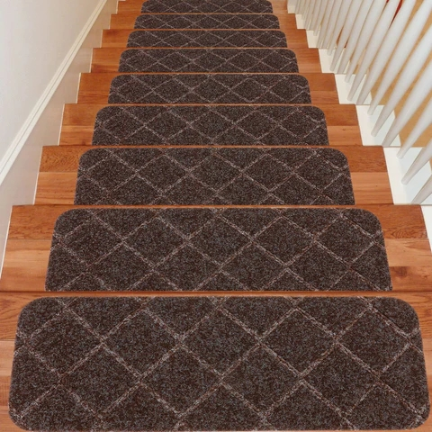 Stair Treads – Seloom   Non Slip Stair Rugs   Bullnose Carpet   Carpet Rug   Mat   Stair Runners   Tread Covers