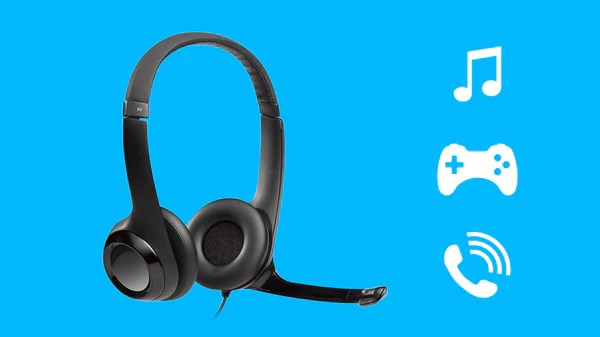Logitech Headset H390 USB Headset with Noise-Cancelling Mic