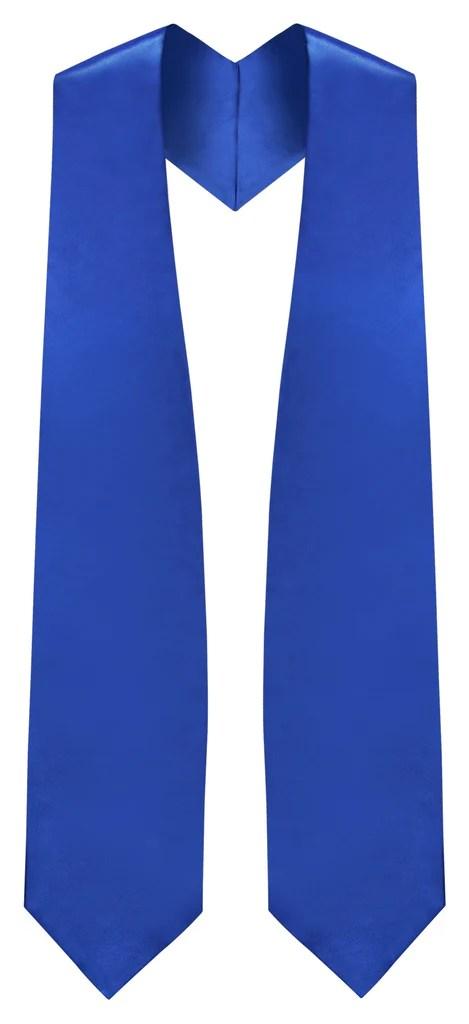royal blue graduation stole