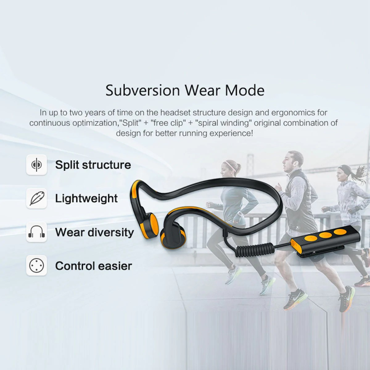 medium resolution of wireless earbuds bluetooth bone conduction
