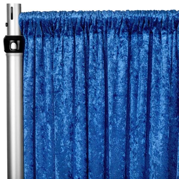 velvet 10ft h x 52 w drape backdrop curtain panel royal blue