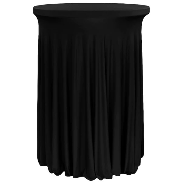 wavy spandex cocktail table cover 30 32 round black