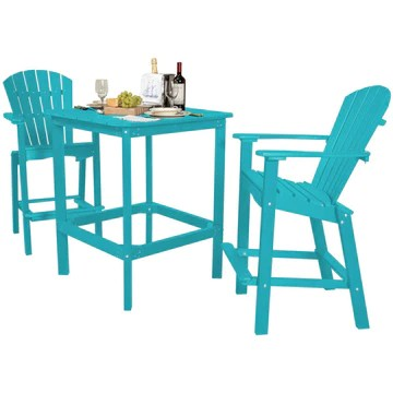 duraweather poly marco island 3 pc counter height bistro set