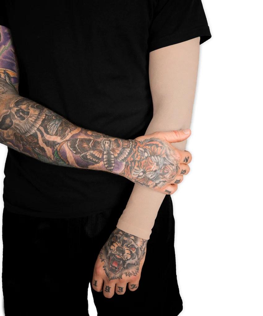 Flesh Coloured Tattoos : flesh, coloured, tattoos, Light, Tattoo, Cover, Sleeve-, TatCover™