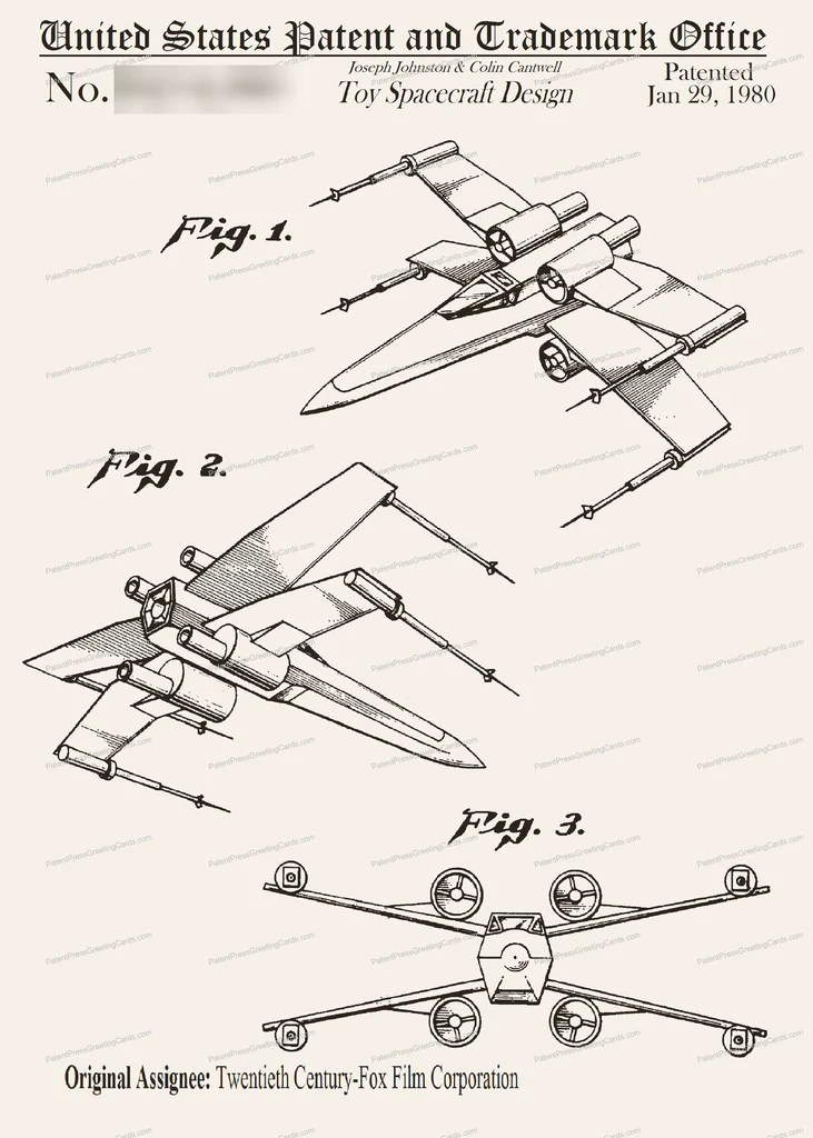 X Wing Fighter Drawing : fighter, drawing, X-Wing, Fighter, Patent, Greeting, Press™