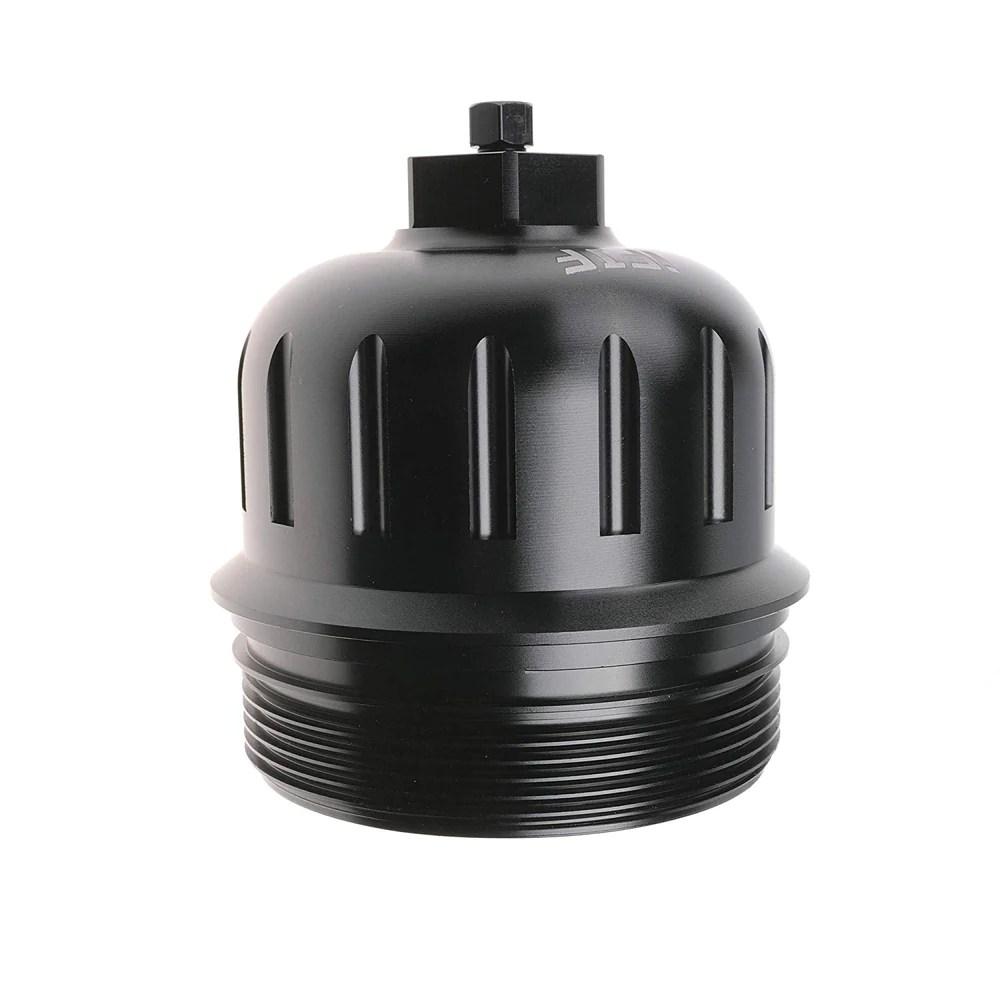 ifjf fuel filter housing cap 134001 for 2017 gm duramax 6 6l l5p billet aluminum [ 1000 x 1000 Pixel ]