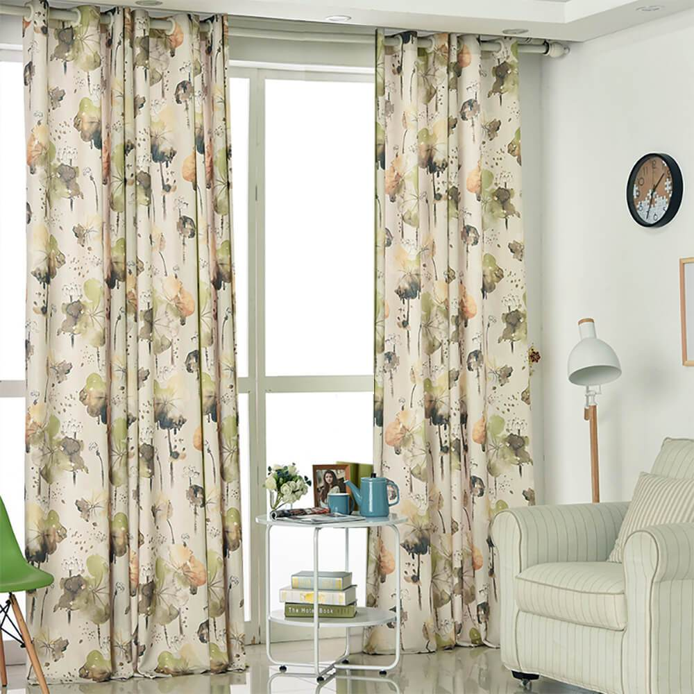 Lotus Cotton Linen Curtains Living Room Custom Drapes For Sale Anady Top