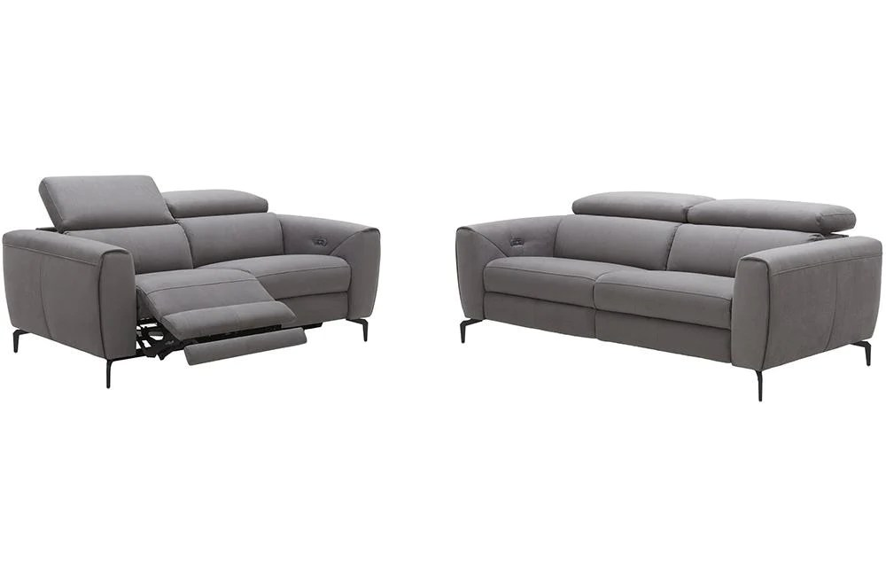 scuzzo gray fabric sofa loveseat and chair
