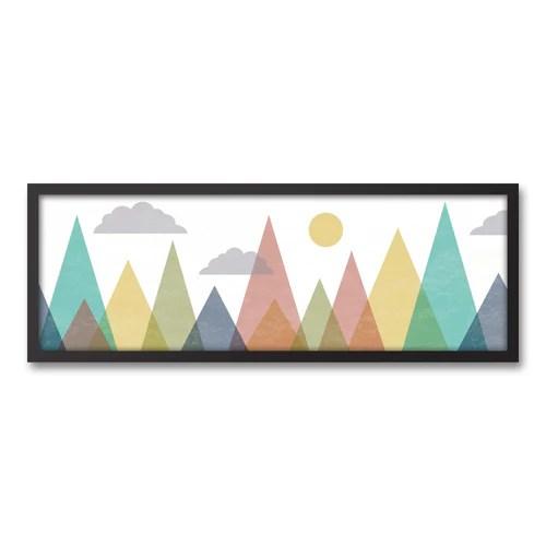 Abstract Mountainscape 12x36 Canvas Wall Art