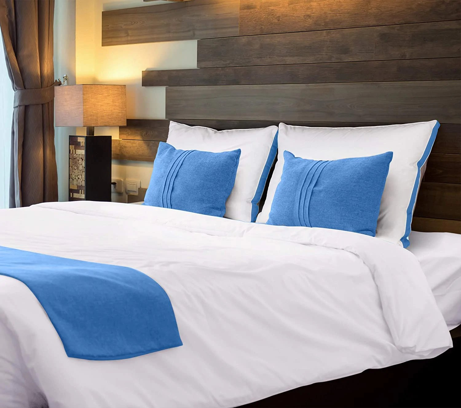 premium gusseted quilted pillow by utopia bedding queen blue