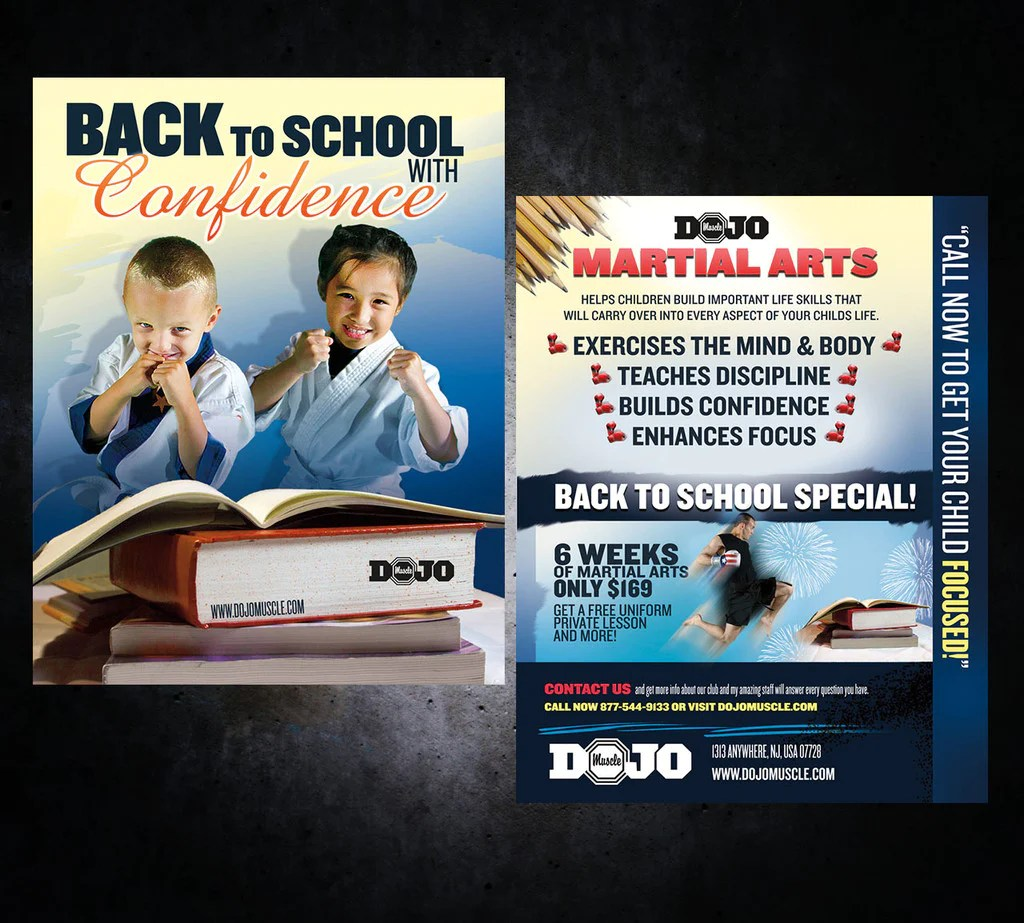 School Martial Arts Print Marketing - Dojo Muscle