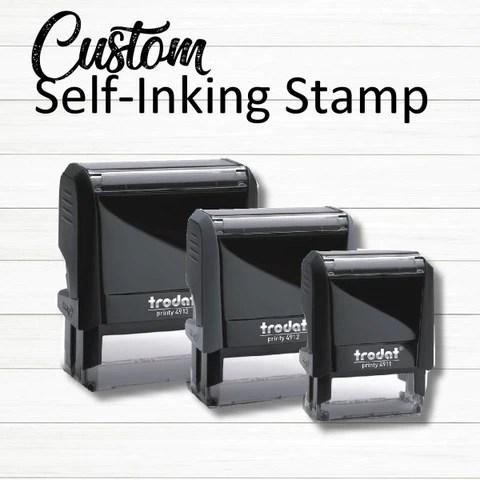 custom rubber stamp customized