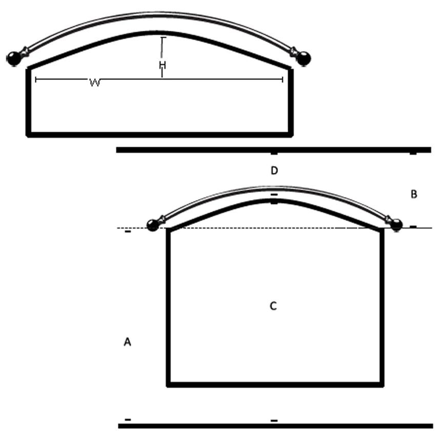 custom bow window rods iron accents