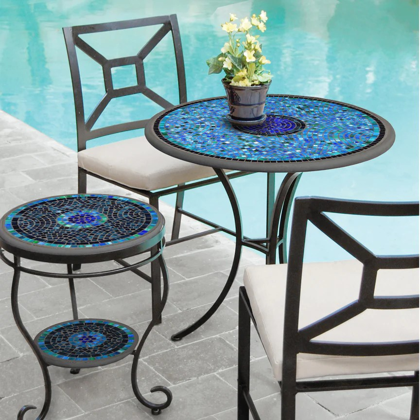 mosaic patio chat table 30