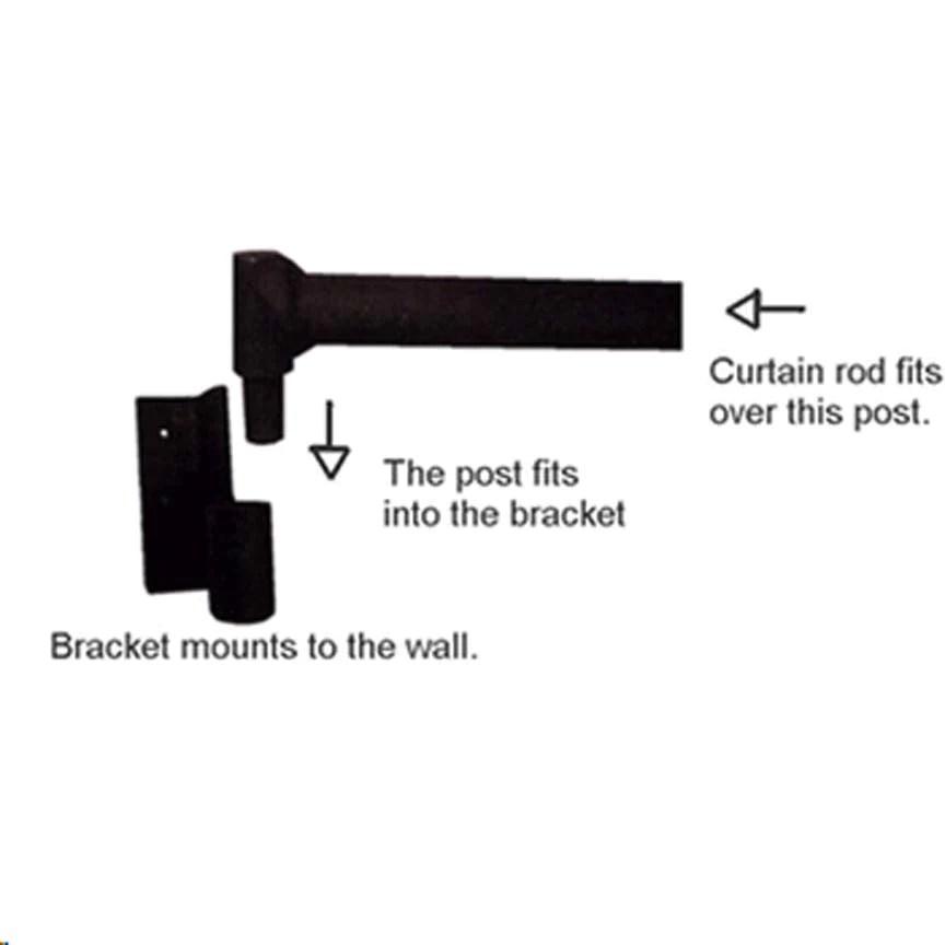 3 swing arm curtain bracket 7 8 1 rod
