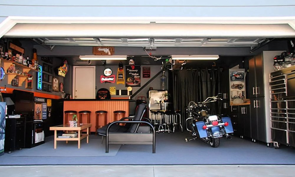 man cave garage bar