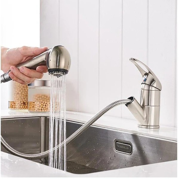 ellis deck mounted pull out copper kitchen faucet warmly