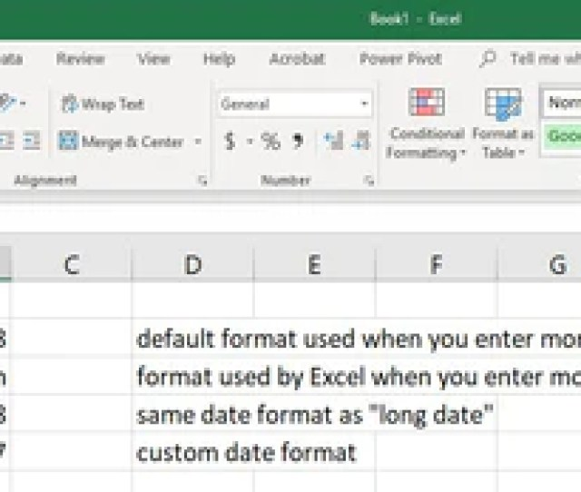 Have Your Date Your Way Changing Date Formatting In Microsoft Excel