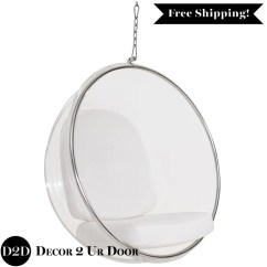 Hanging Chair Clear Easy Covers For Sale Modern Acrylic Ghost Globe Lounge