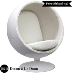 Modern Ball Lounge Chair Barcelona Replica Uk Retro Shaped Apartment Dorm Room