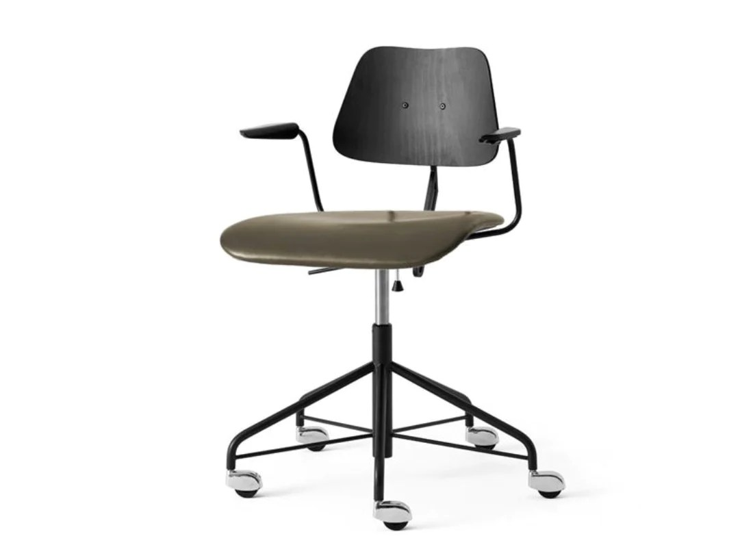Work Chair Labofa Swivel Work Chair 12 1 Black Basalt Leather