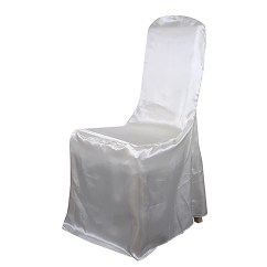 Chair Covers Ivory Finn Juhl Banquet Cover Satin Bbcrafts