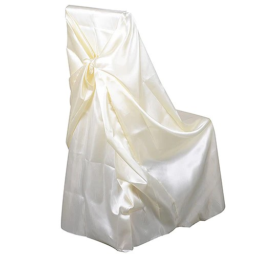 chair covers universal fold up chairs argos satin cover ivory
