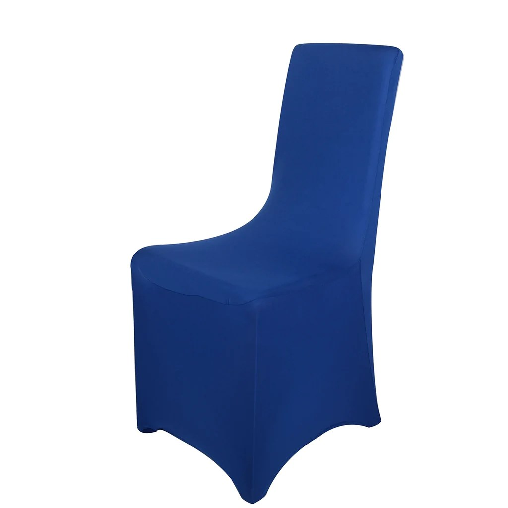 royal blue chair covers kids wicker spandex banquet cover