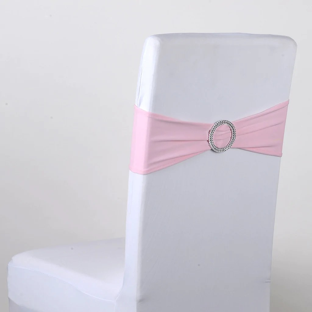 light pink spandex chair covers lazy boy lift chairs for sale sash with buckle 5 pieces