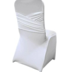 White Banquet Chair Covers Glider Chairs Canada Cover Poly Bbcrafts Madrid Spandex