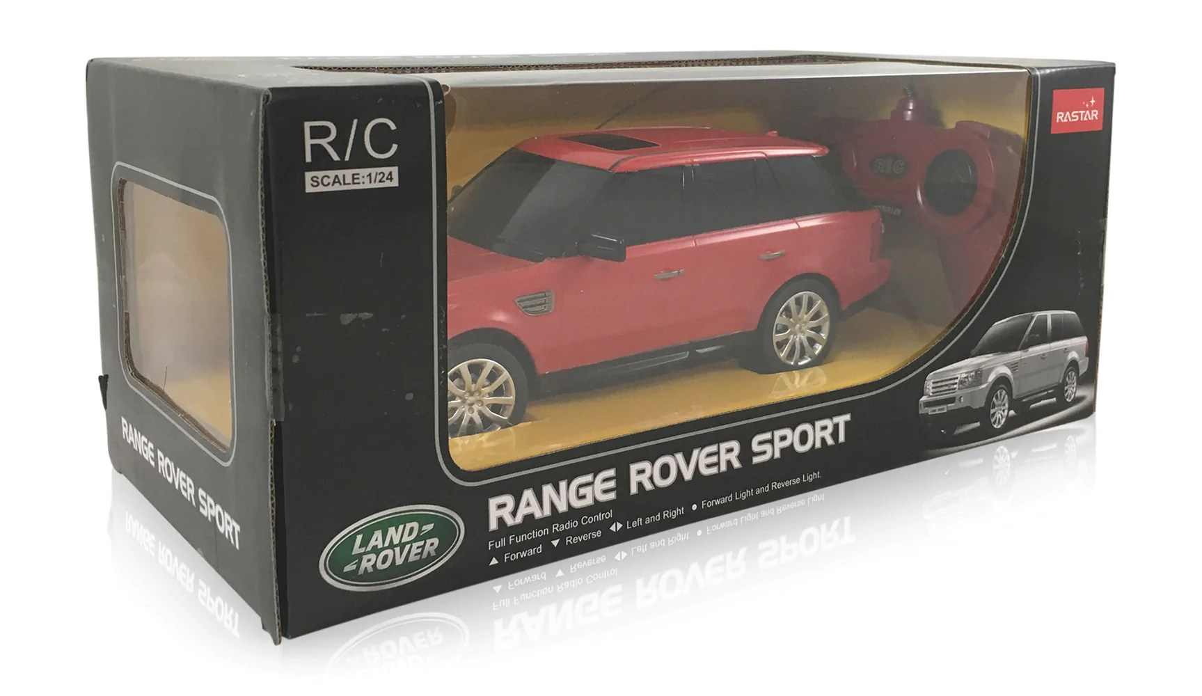 land rover range rover sport red 1 24 scale radio controlled model car by rastar [ 1727 x 1000 Pixel ]