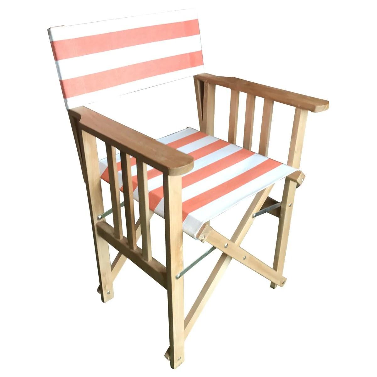 striped directors chairs red bean bag chair jousting deckchair stripes